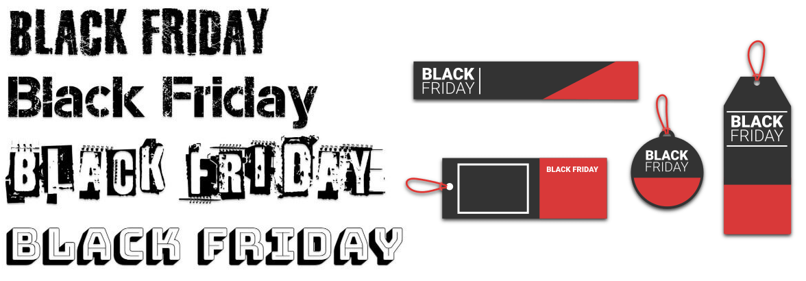Black Friday fonts and stickers